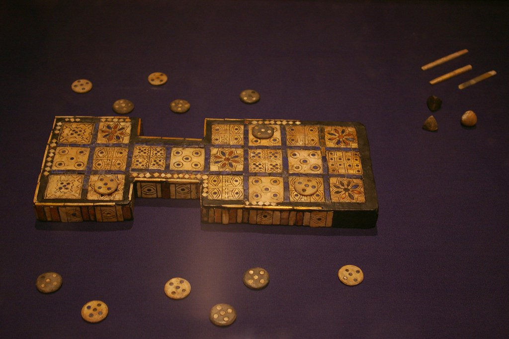 Royal game of Ur  In the British Museum in London  Julio
