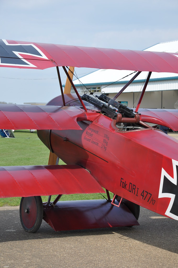 Fokker DR1 Triplane replica  At her home base Sywell