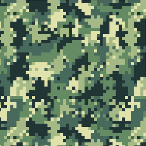 Black And White Digital Camo Pattern
