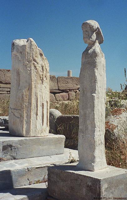 Weathered Herm on Delos Island  Delos Sanctuary of Apollo  Flickr