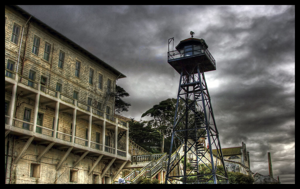 Alcatraz Guard Tower  One of the several guard towers on