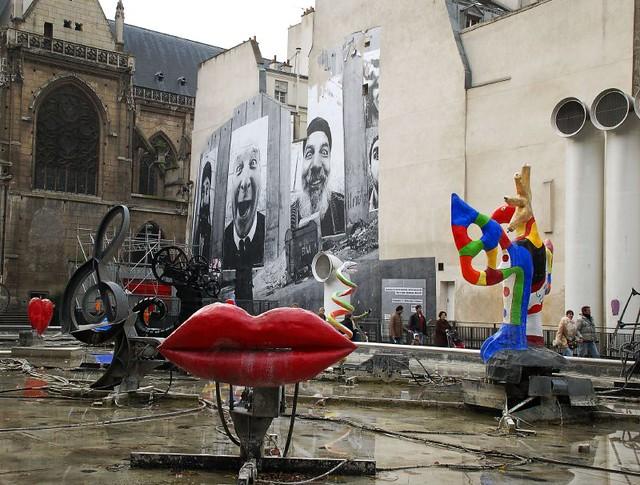 Pompidou Sculptures  Sculpture fountain near the Centre Pom  Flickr