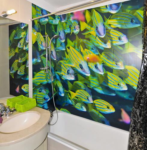 Casa de banho decorada com fotografia de grandes dimenses  Flickr
