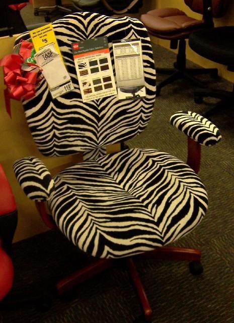 zebra print office chair desk gold legs steve flickr