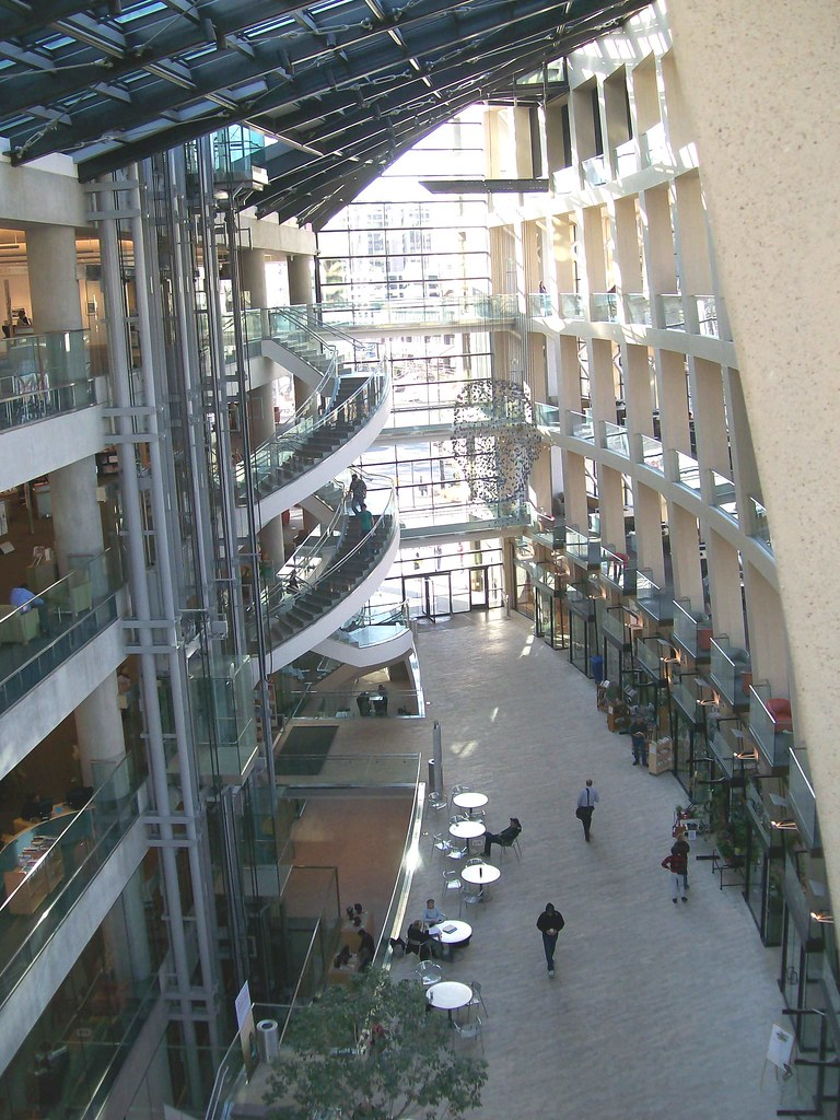 Atrium of the Downtown Salt Lake Library in Salt Lake City