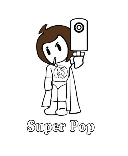 Super Pop Black and White Supa Pee Wee Color Me Coloring P