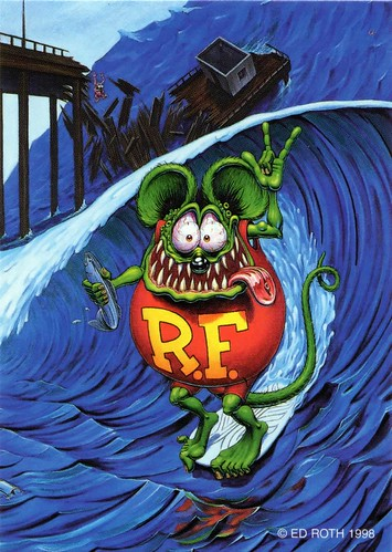 Rat Fink Ed Big Daddy Roth Rat Surfing Brocklyncheese