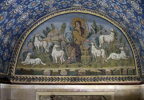lunetta del buon pastore  RAVENNA MAUSOLEO DI GALLA
