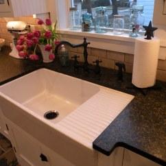 Double Kitchen Sink With Drainboard Backsplash Panels Farmhouse Joseph Palmieri Flickr