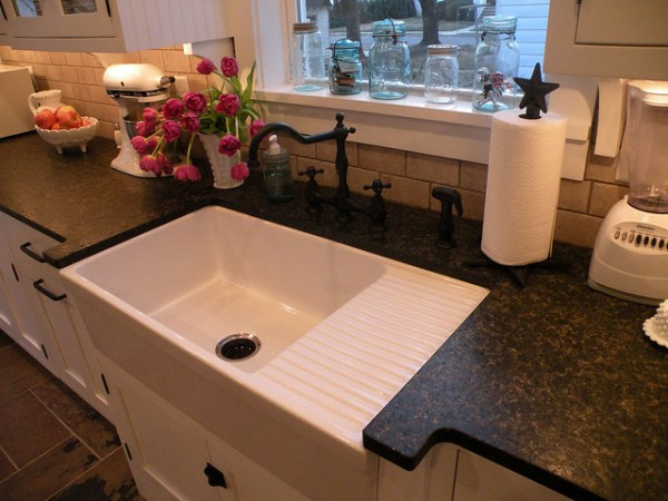 farmhouse kitchen sink with drainboard Farmhouse sink with drainboard. | Flickr - Photo Sharing!
