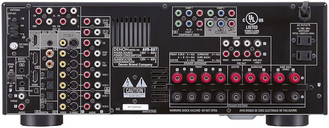 Denon AVR887 Back  Just because I want a backup of the