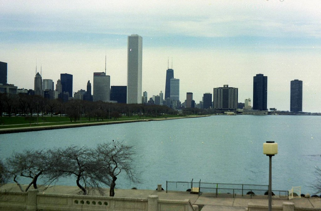 Chicago skyline  1978  Chicago  April 1978 Scanned