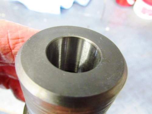 Tapered Hole in End of Coupling