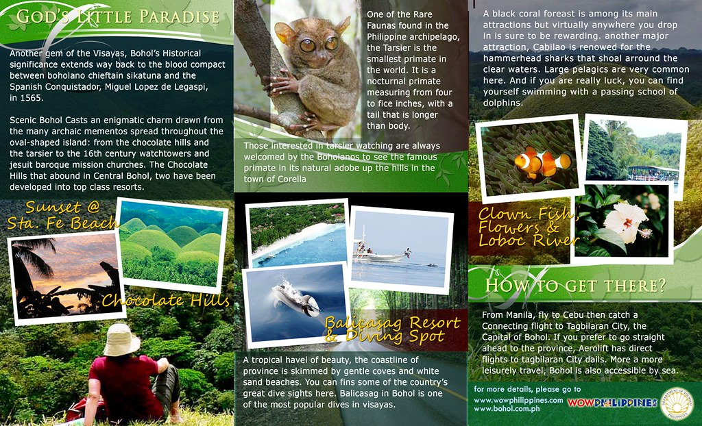 Bohol Brochure Page 2 Bohol Philippines Brochure Page Flickr