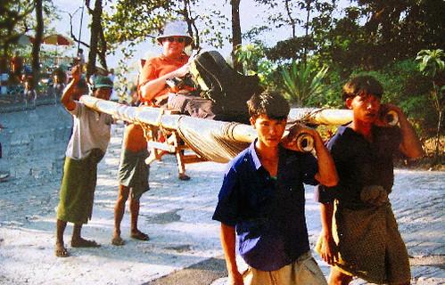 Sedan Chair Kyaiktiyo Myanmar 2001 I Think The Tilley