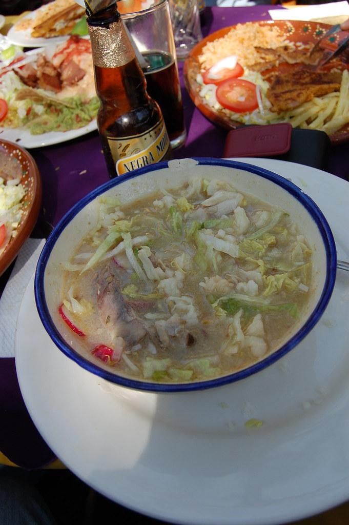 comida en tlaquepaque  Pozole tipica sopa mexicana de