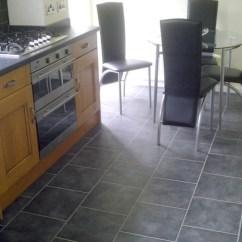 Gray Tile Kitchen Floor Wooden Utensils Brns | Wickes Grey Ceramic Tiles Laid ...