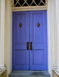 Purple Front Door   residential front door in downtown ...