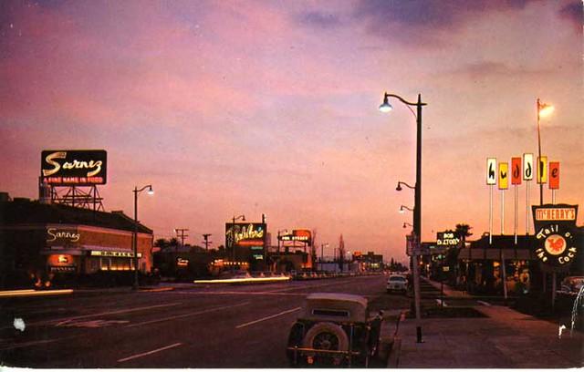 Restaurant Row La Cienega Blvd Los Angeles Calif Flickr