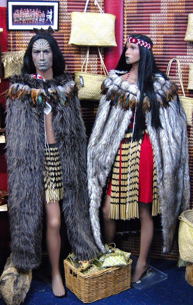 A Big Cover Up  Korowai cloak  The features on the models   Flickr
