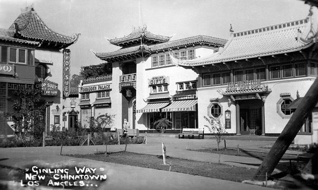 Los Angeles New Chinatown circa 1950  A view of Los Angel  Flickr