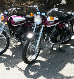 two 1970 yamaha r5 motorcycles paso robles ca april 2008 by bcgreeneiv [ 1024 x 768 Pixel ]