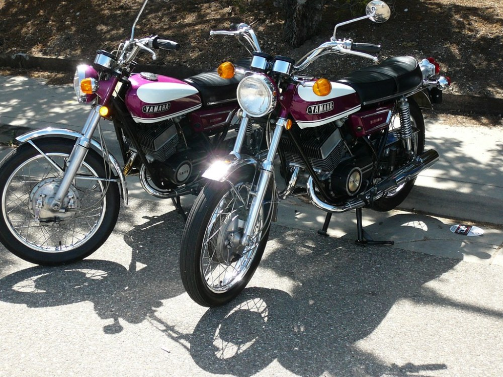 medium resolution of  two 1970 yamaha r5 motorcycles paso robles ca april 2008 by bcgreeneiv