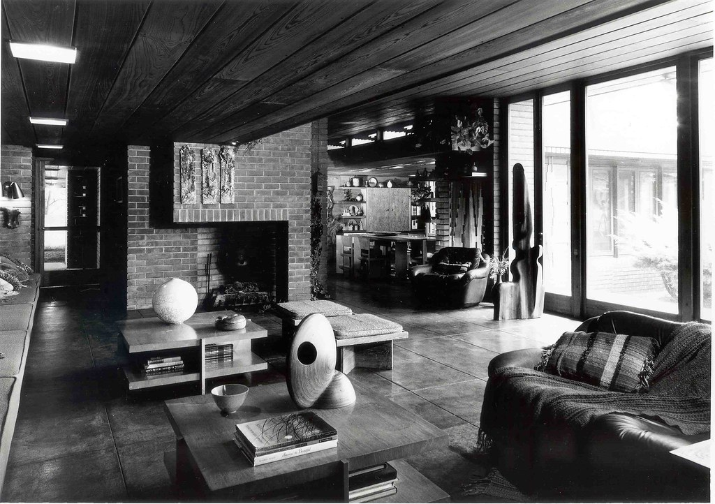 kitchen chief distressed cabinets melvyn maxwell and sara stein smith house (1949) frank llo ...