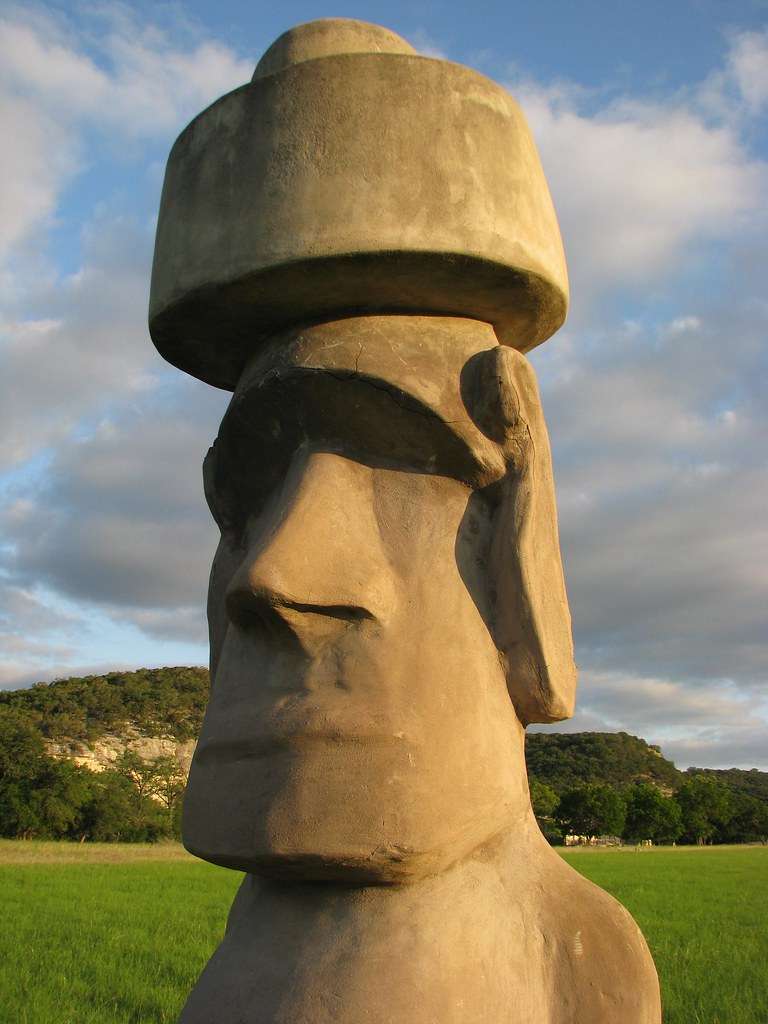 Easter Island Head at Stonehenge II formerly near Hunt T