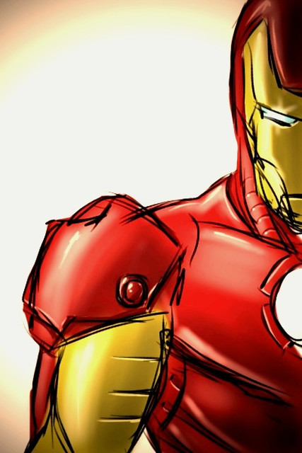 Sketch Iphone Wallpaper Iron Man Sketch Done Entirely On My Iphone With My