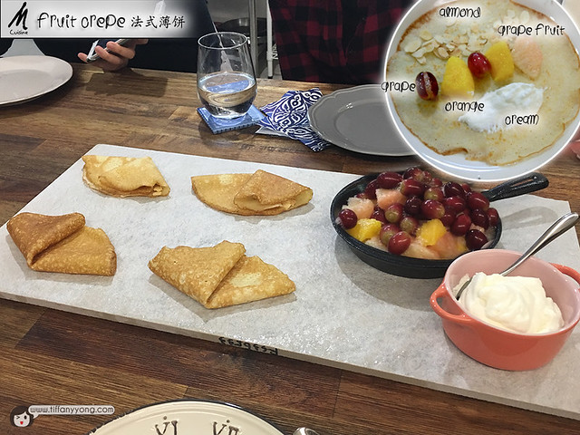M Cuisine Private Dining at Home in Taipei Fruit Crepe