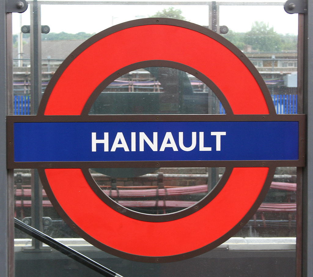 Hainault Underground station  Modern silhouette roundel