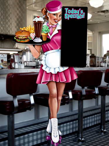 1950s Cute Car Hop Waitress By Character Amp Company Flickr
