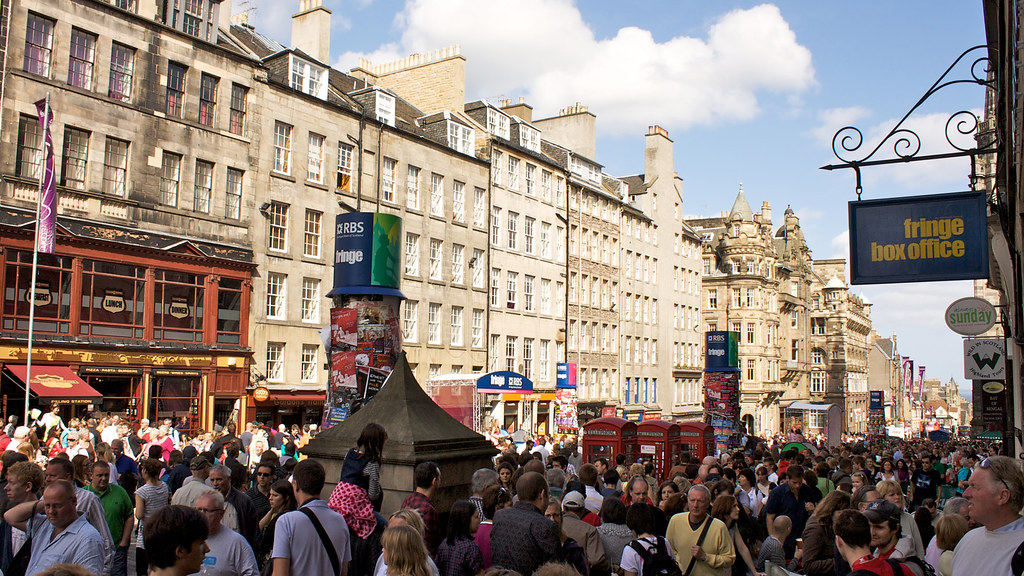 Edinburghs Royal Mile during the Festival Fringe  Id forg  Flickr