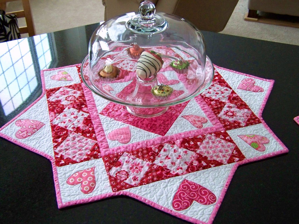 Valentine Table Square Made From Deb Strains Sent With