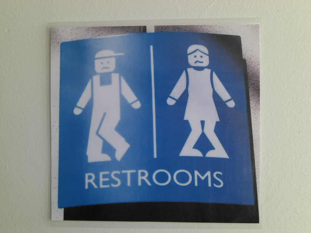 Restroom signs  When youve been on the road for two