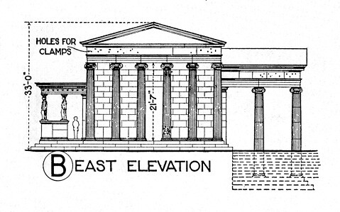 Erechtheum reconstruction elevation from east  Title
