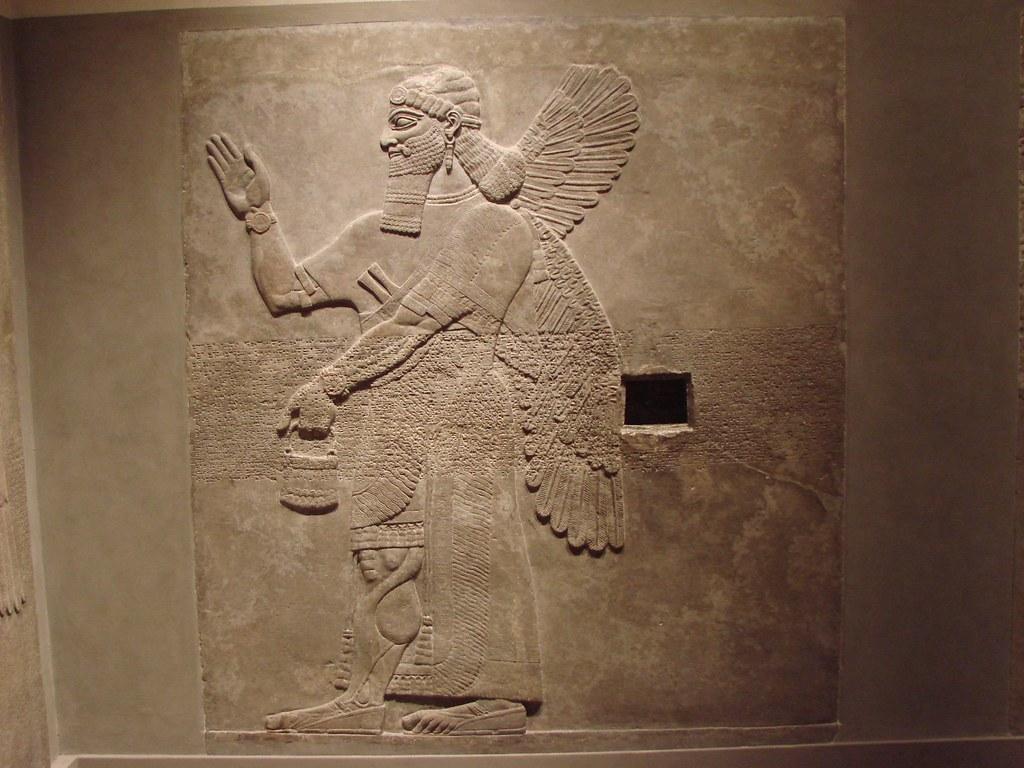 Ashurnasirpal II Assyrian relief NorthwestPalace Room