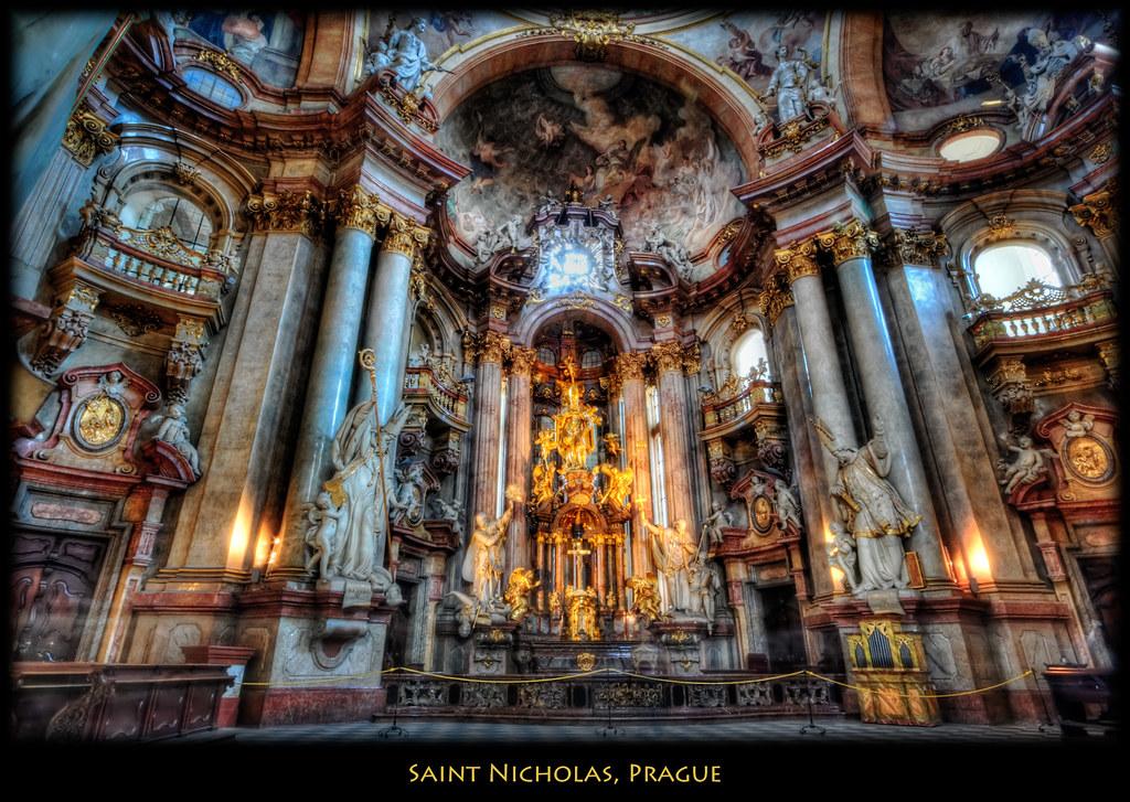 Prague  A closer look at the altar in Saint Nicholas