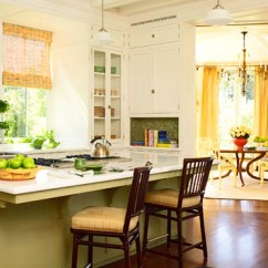 Franke Kitchen Faucet Cottage Style Cabinets Yellow + White Painted Island: 'pale Ho ...