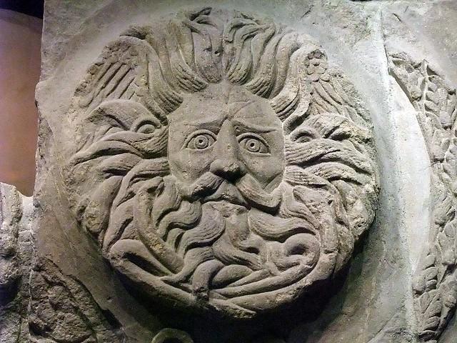 Gorgons Head Roman Baths Bath UK The Ancient