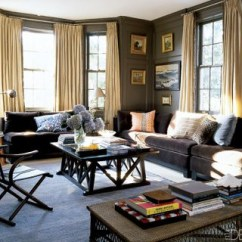 Elle Decor Best Living Rooms Beach House Room Chairs Sophisticated Brown Room: Benjamin Moore 'char Brow ...