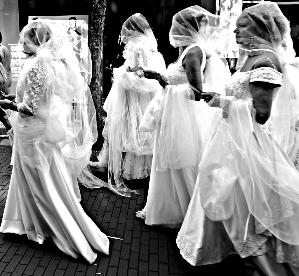 diaphanous veils  Brides during the Caribbean street