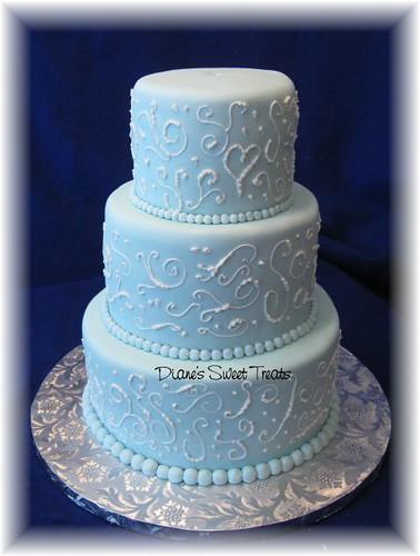 Light Blue Wedding Cakes