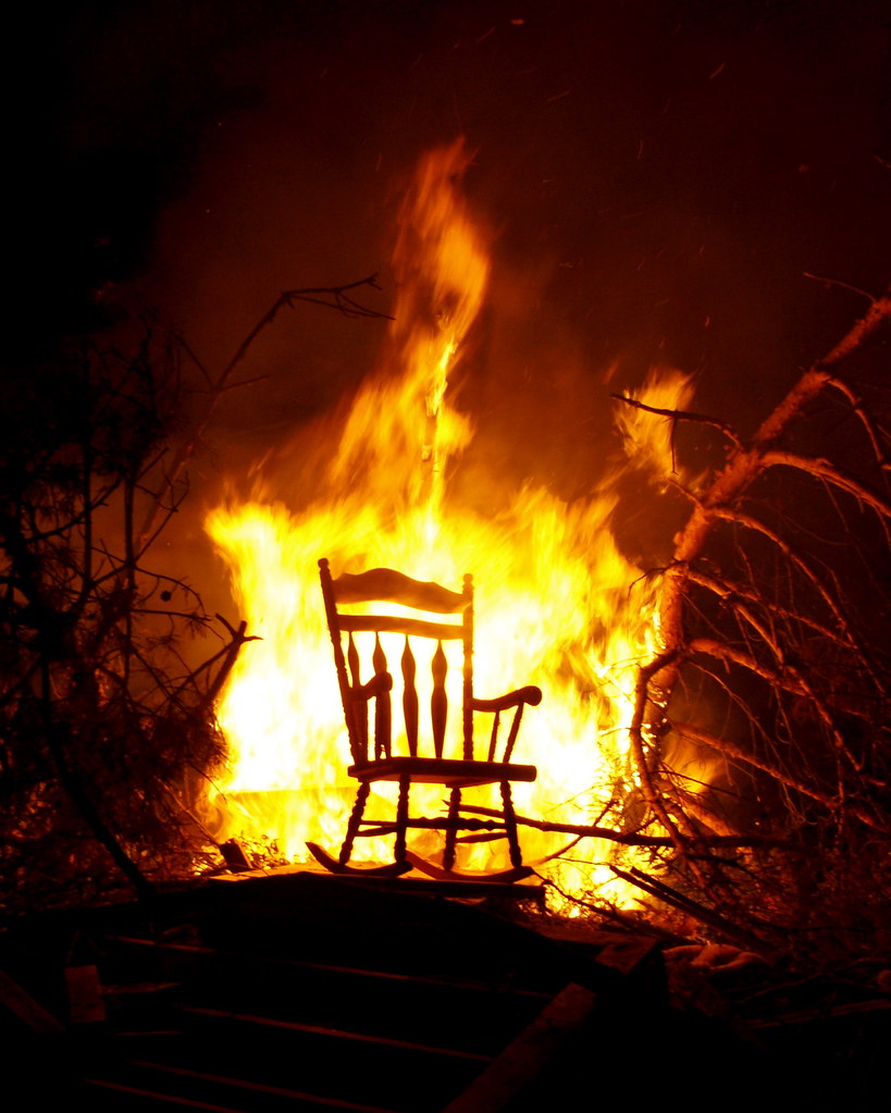 Rocking Chair Ablaze  I attended a party over the weekend