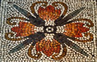 Orange Flower Mosaic Tile