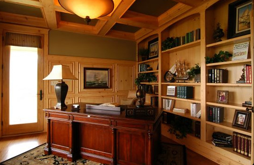Cozy Home Library An Example Of A Home Library By