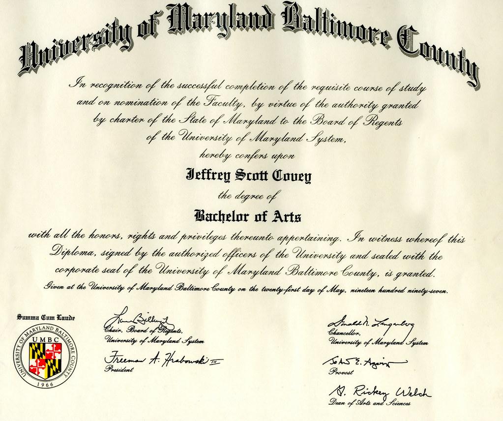 umbc diploma  jeff covey  Flickr
