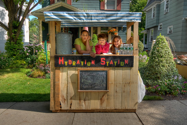 Lemonade Stand  This neighborhood Hydration Station a