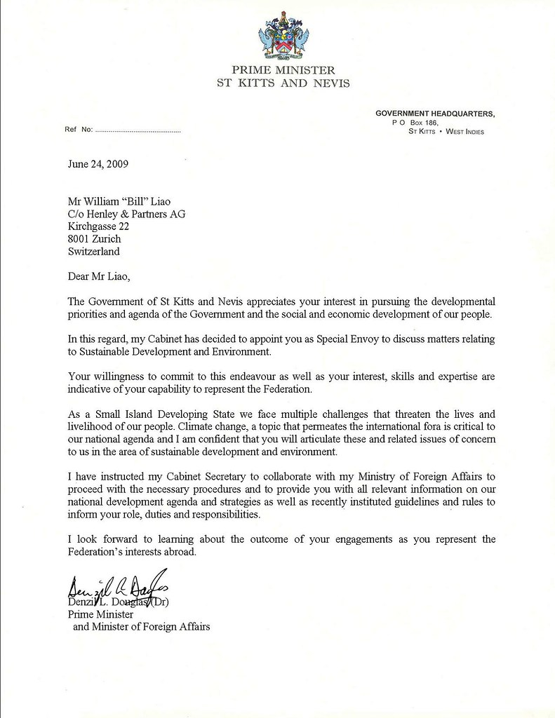 Diplomatic Appointment Letter From The PM I Am Now